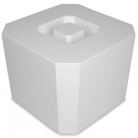 Isspand 4,5 L. - Hvid Plast