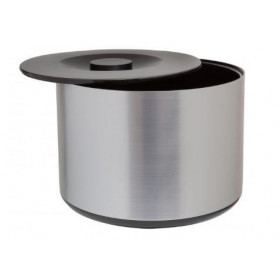 Isspand 10 L. Rund - Børstet aluminium design