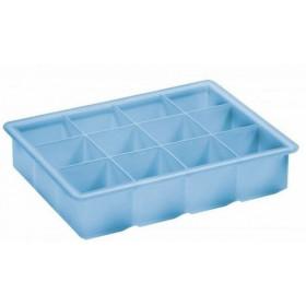 Lurch Isterningebakke i blå silikone - 4x4 cm.
