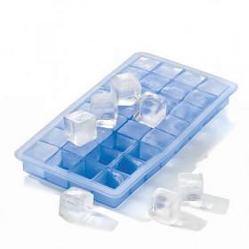 Lurch Isterningebakke i blå silikone - 2x2 cm.