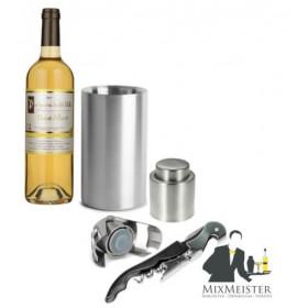 Vinsæt med vinkøler, vinprop, champagnestopper og proptrækker