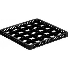 Overdel til opvaskebakke 36glas i sort - 6,5 cm