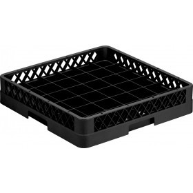 Opvaskebakke til 36 glas i sort - 50x50 cm