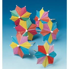 Drinkspynt Lukus Parasoller i blandede farver - 100 stk