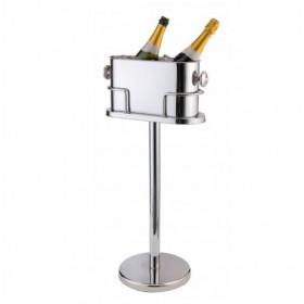 Champagnekøler med stander til to flasker