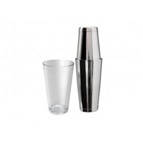 Mezclar tin tin boston shaker med boston shaker glas