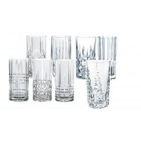 Bland selv longdrinkglas, 6 valgfrie Nachtmann krystalglas