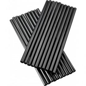 PLA Bionedbrydelige sorte sugerør u. knæk 15 cm - 150 stk
