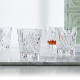 Nachtmann Imperial whisky sæt med 4 krystalglas