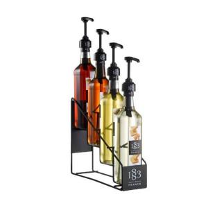 Flaske stativ til 4 x 1883 Routin sirup flasker