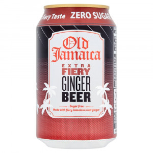 "Old jamaica ginger beer ""extra fiery zero"" Sukkerfri - 33 cl"