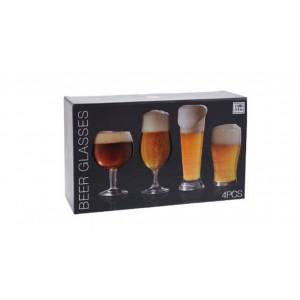 Gaveæske med 4 ølsmagnings glas