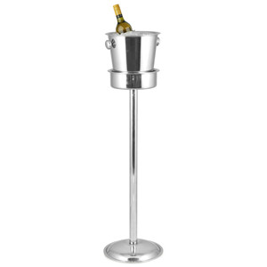 Klassisk Champagnekøler m. stander 73 cm. - Krom