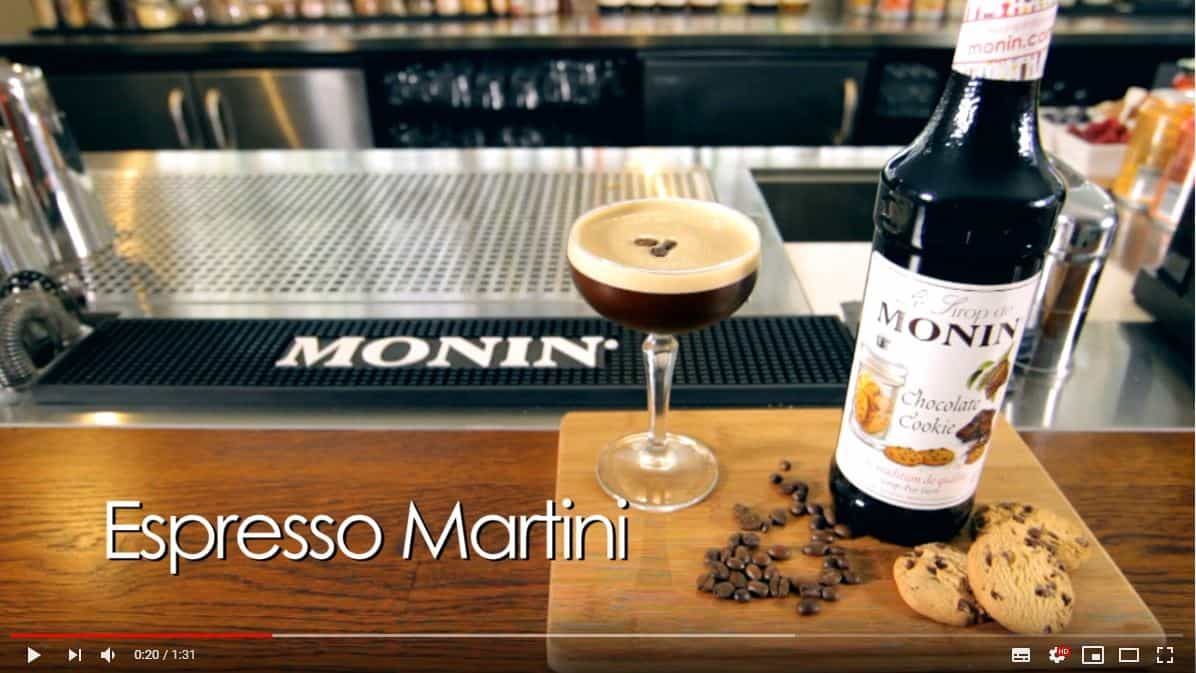Monin-chocolate-cookie-syrup-sirup-opskrift-youtube-mixmeister-espresso-martini